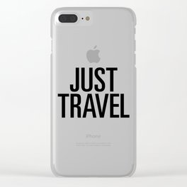 Just travel Clear iPhone Case