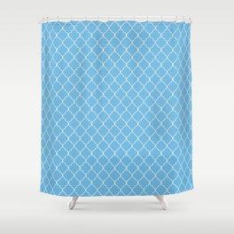 Quatrefoil Sea Frolic Shower Curtain