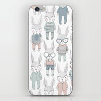 bunnies iPhone & iPod Skins featuring BUNNIES by Catalina Graphic