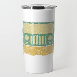 Nice Riding Tee For Riders With A Retro Illustration Of A Truck T-shirt Design Wheels Car Ride Travel Mug
