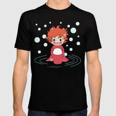 Kokeshi Ponyo Mens Fitted Tee Black LARGE