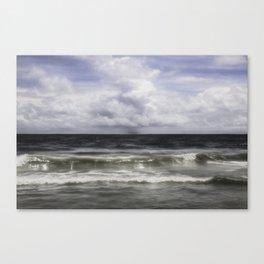 Rain on the Sea Canvas Print