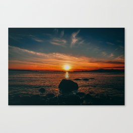 Sunset in Stanley Park Canvas Print