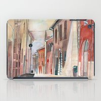 italy iPad Cases featuring Italy, watercolor by Jane-Beata