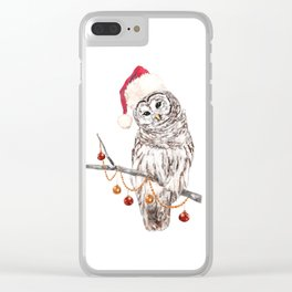 Christmas Owl GREETING Clear iPhone Case