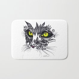 Intense Cat Bath Mat
