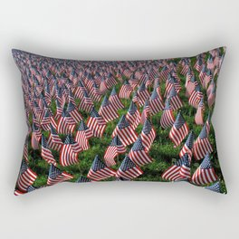 'Merica! - Happy Independence Day! American flags covering Boston Common - USA Rectangular Pillow