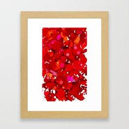In the Red Framed Art Print