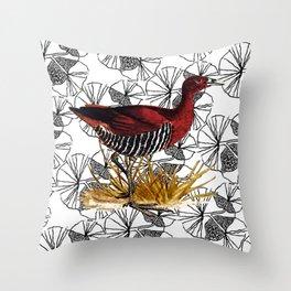 Rallina Canningi delle Andamane _ B//R Throw Pillow