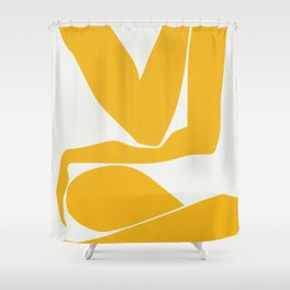 Yellow anatomy Shower Curtain