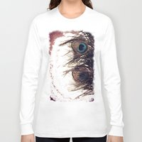 peacock feather Long Sleeve T-shirts featuring Peacock Feather by KunstFabrik_StaticMovement Manu Jobst