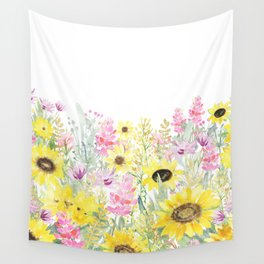 Summer Garden (Sunflower Passion) Wall Tapestry