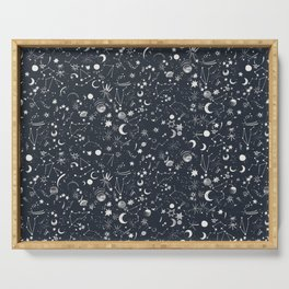 Astronomy Moon Constellation Space Planets Serving Tray