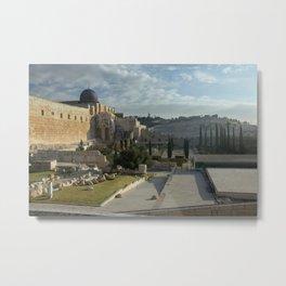 Ruins in Jerusalem Metal Print