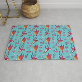 Rockabilly Swallow Rug