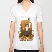 adventure is out there V-neck T-shirts featuring Adventure by BlancaJP