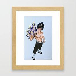 Hiei - Black Dragon Wave Framed Art Print