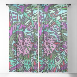 Take Everything I Dare You (Tropical) Sheer Curtain