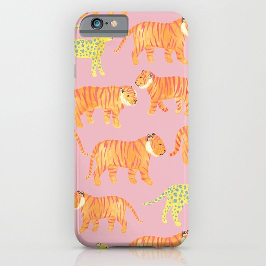 Pink Tigers iPhone & iPod Case