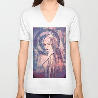 sister V-neck T-shirts featuring Saucy Sister by Sirenphotos