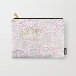 Peonies with a touch of gold Carry-All Pouch