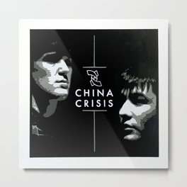 China Crisis (Gary Daly and Eddie Lundon) Metal Print