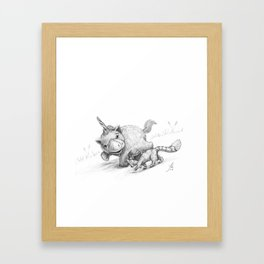 Uni and Red Framed Art Print