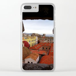 Cagliari city. Sardinia, Italy Clear iPhone Case