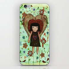 Broken girl iPhone & iPod Skin