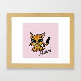 Cat Art Framed Art Print