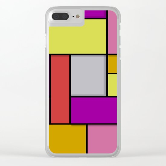 Mondrian #6 Clear iPhone Case