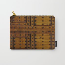 Wooden Antique Door Carry-All Pouch