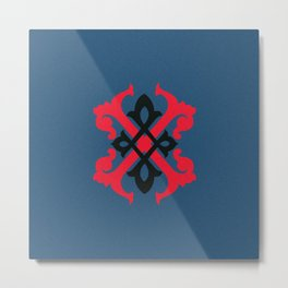 Letterform X Metal Print