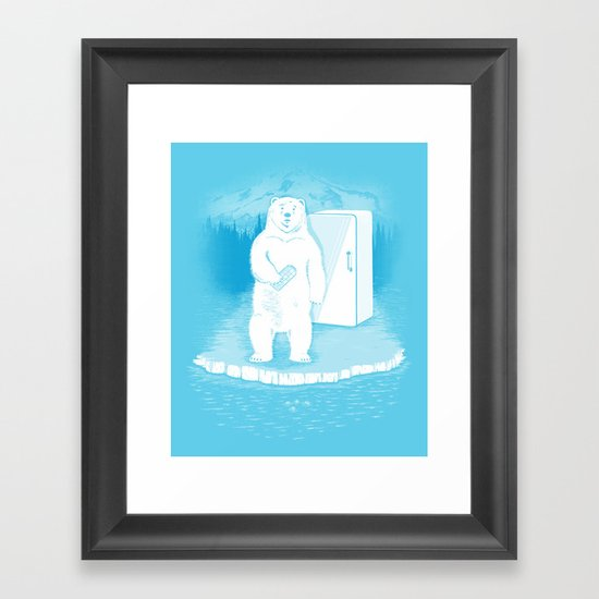 Save the polar bears, make more ice cubes. Framed Art Print