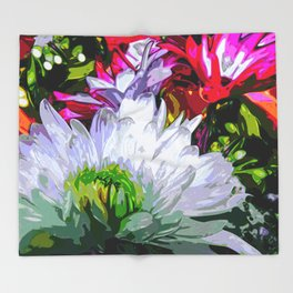 Floral Print Throw Blanket