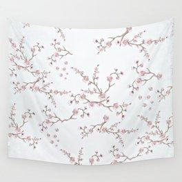 SAKURA LOVE - GRUNGE WHITE Wall Tapestry