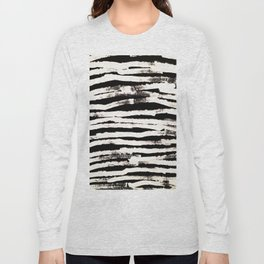 Abstract Brush Strokes Long Sleeve T-shirt