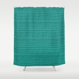 Turquoise Wood Grain Color Accent Shower Curtain