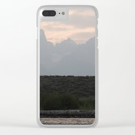 Grand Tetons by the Snake River Clear iPhone Case