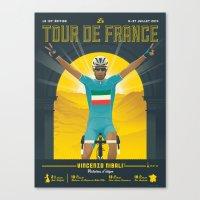 tour de france Canvas Prints featuring Tour de France 2014 by Matthew Fleming