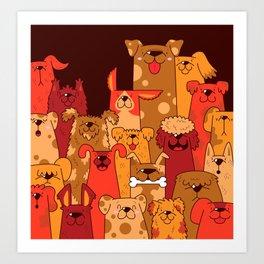 Pile of Woofs Art Print