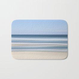 peaceful blue beach Bath Mat