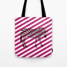 Nerd Zebra (Pink) Tote Bag