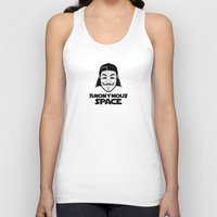 anonymous Tank Tops featuring Anonymous by Tony Vazquez