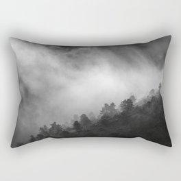 """Memories..."" Into the woods. Foggy sunrise Rectangular Pillow"