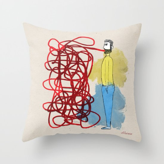 Something hard to say Throw Pillow