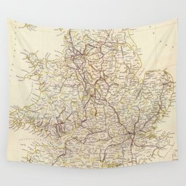 Vintage Map of England (1837)  Wall Tapestry