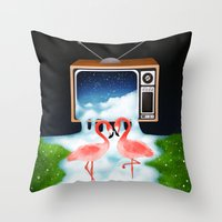 Momentary Static Throw Pillow