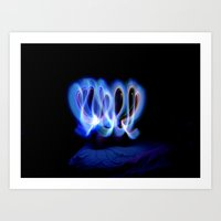 GLOWSTICKS IN THE BEDROOM Art Print