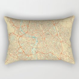 Toulouse Map Retro Rectangular Pillow